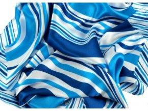 Šátek čtvercový modrobílý 55x55cm