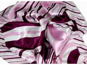 Šátek čtvercový fialovobílý 55x55cm 697