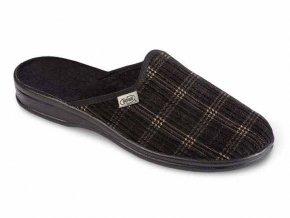 Bačkory papuče pánské Pegres 3113 důchodky vyšší s přezkou šedé PÁN ... 0343605f31