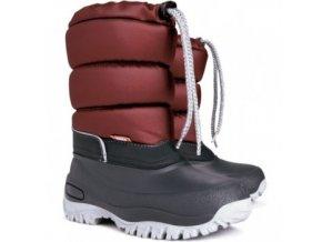 Mrazuvzdorné zimní boty / sněhule Demar Lucky vínové 110