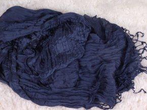 Šála / šátek - mačkaná tmavomodrá ST35