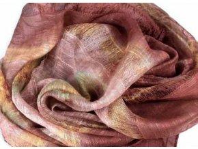 Šála / šátek - batik hnědá ST33