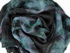 Šála / šátek - batik tmavá ST27