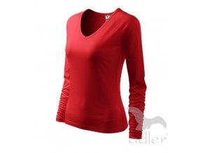 Triko tričko Adler Elegance dlouhý rukáv červené