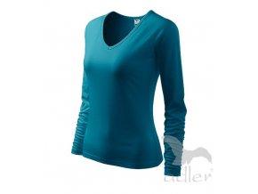 Triko tričko Adler Elegance petrolejové dlouhý rukáv