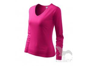 Triko tričko Adler Elegance růžové dlouhý rukáv