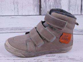 Zimní boty D.D. step 040-21A šedé kožené kotníkové