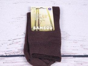 Kód  19809 24-25. Ponožky HNĚDÉ pánské   dámské NOVIA bambus antibakteriální a2e110ca27