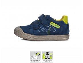 Celoroční kožené boty obuv D. D. step 049-910 modrozelené