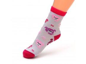 detske ponozky pejsek cerv