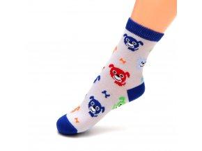 detske ponozky pejsek modre