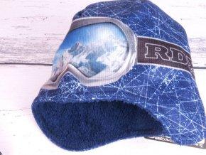 Čepice zimní RDX 3550 tm. modrá s krytím uší