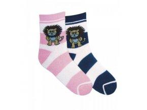 Dětské termo ponožky NOVIA lvíček růžové 3916