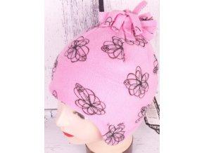 Čepice zimní RDX 3261 sv. růžová flísová
