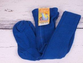 Punčocháče Dotex Lachtan žebrované 100% bavlna 3874 modrá