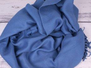 Pašmína šála pléd 3786 modrá