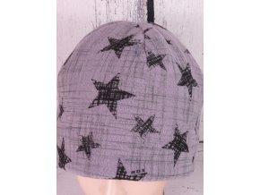 Čepice RDX 3471 zimní flísová šedá / hvězdy