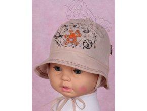 Klobouček klobouk RDX 7425 lehký vázací béžový