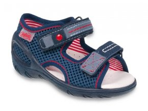 Sandálky Befado Sunny 065P106 065X106 tm. modré f6ba77bb6a