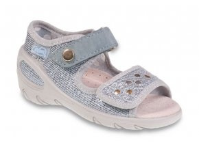 Sandálky Befado Sunny 433P018_433X018 stříbrné