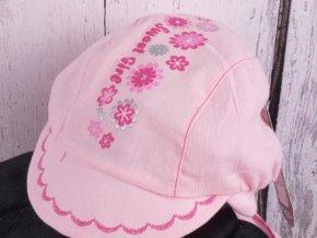 Čepice RDX 7456 sv. růžová lehká s krytím krku