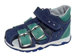Sandálky JONAP 017M chlapecké modrozelené 3418