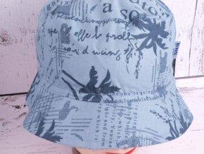 Klobouk klobouček RDX 7112 modrošedý