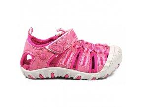 Sportovní sandálky Junior League 3395 růžové s krytou špicí sandály