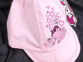 Kšiltovka RDX 7297 sv. růžová s chobotničkou