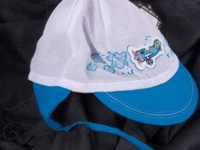 Čepice kšiltovka RDX 7422 vázací lehká letní bílá / tyrkys