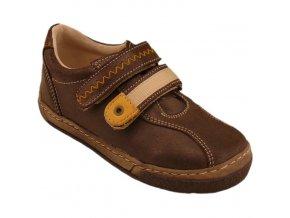 Celoroční kožené boty obuv Pegres hnědé 3284