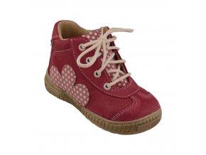 Celoroční kožené boty obuv Pegres růžové 3199