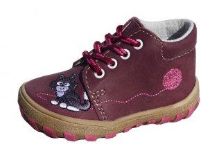 Celoroční obuv Jonap 022M vínové s kočkou