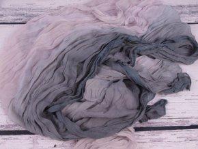 Šála šátek šálka šedá světlejší mačkaná 2985