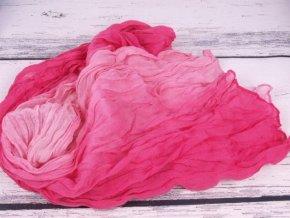 Šála šátek šálka růžová mačkaná 2982