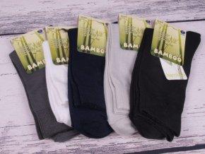 Ponožky NOVIA 1031 bambus TM. MODRÉ antibakteriální