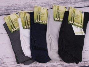 Ponožky BÍLÉ pánské / dámské NOVIA bambus antibakteriální 2966