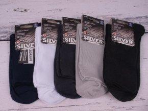 Ponožky BÍLÉ pánské dámské NOVIA Silver 1020 antibakteriální