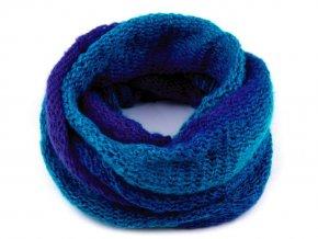 Nákrčník dámský pletený modrý / tyrkys