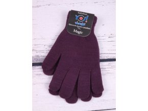 Rukavice prstové Magic fialové dámské nebo pro mládež