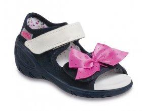 Sandálky / bačkůrky Befado 433P002 / 433X002 s koženou stélkou