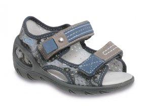 Kožené sandálky Befado 170P021 - Červený Tulipán 134acf792c