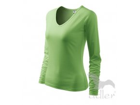 Triko tričko dámské Adler Elegance zelené dlouhý rukáv