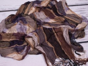 Šála / šátek mačkaná hebká káro ST2057