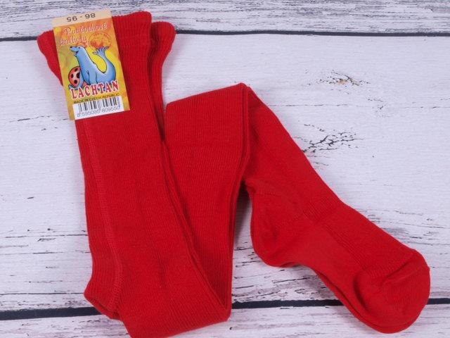 Punčocháče Dotex Lachtan žebrované 100% bavlna červené velikost oblečení - děti: 52/56