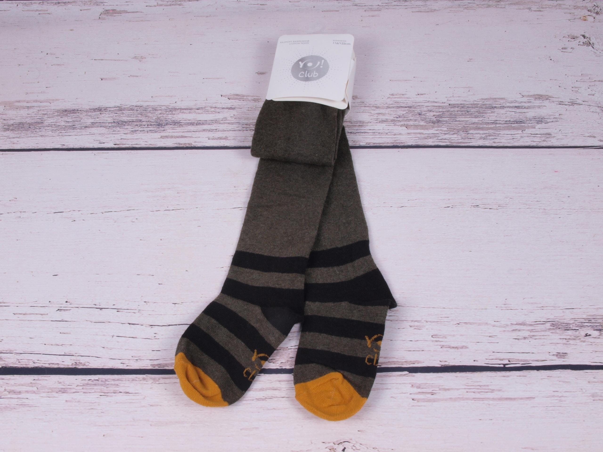 Punčocháče punčocháčky punčošky YO khaki s hořčicovou velikost oblečení - děti: 116/122