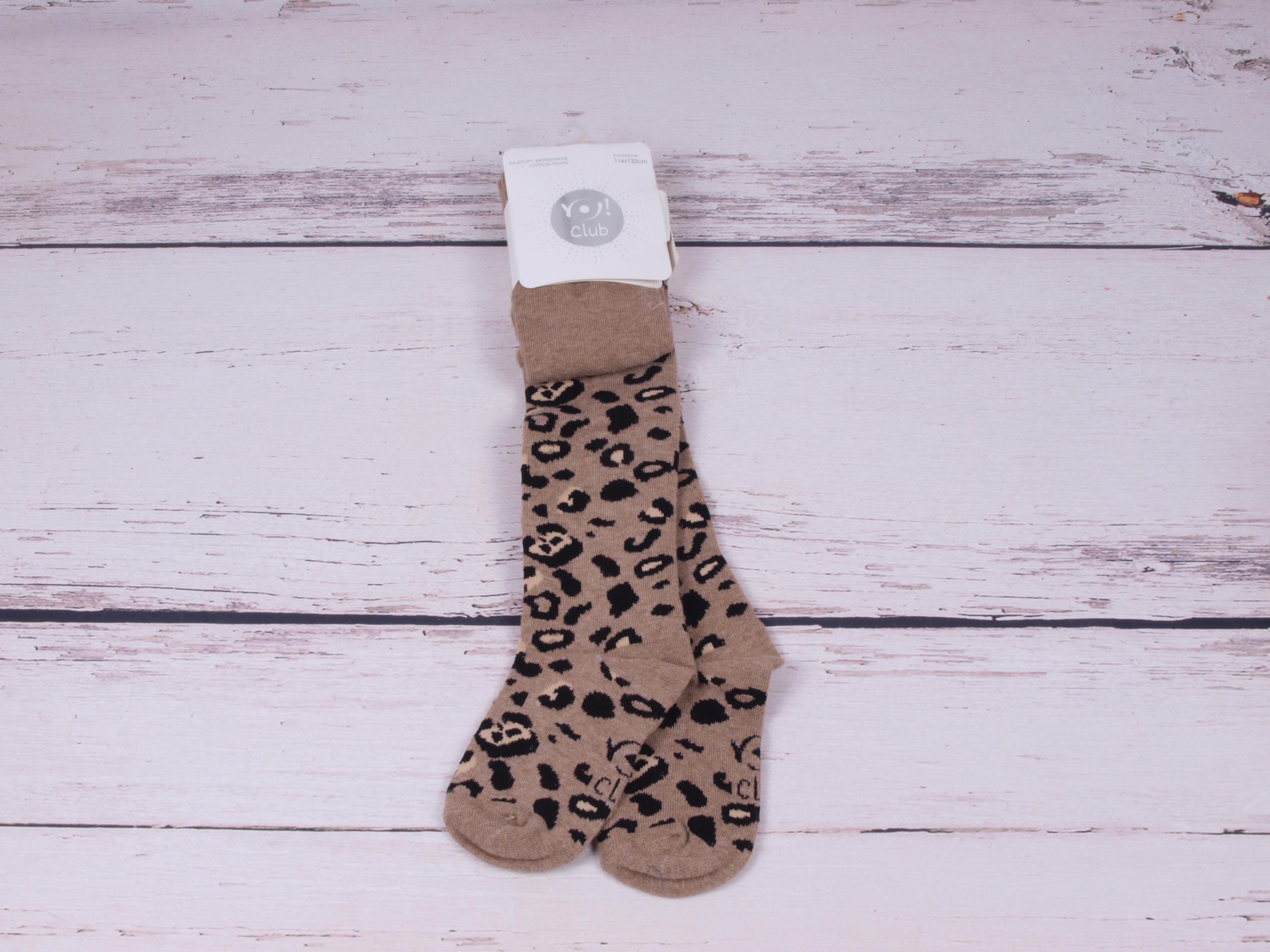 Punčocháče punčocháčky punčošky YO s leopardím vzorem velikost oblečení - děti: 104/110