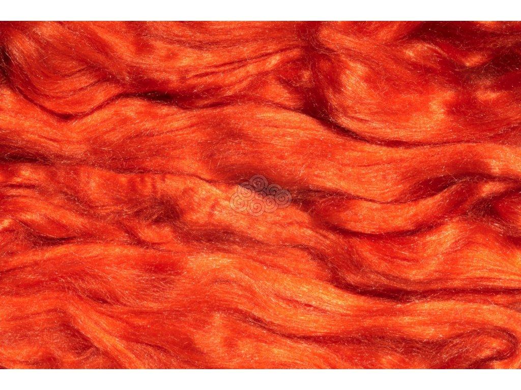 Hedvábí Tussah - oranžové