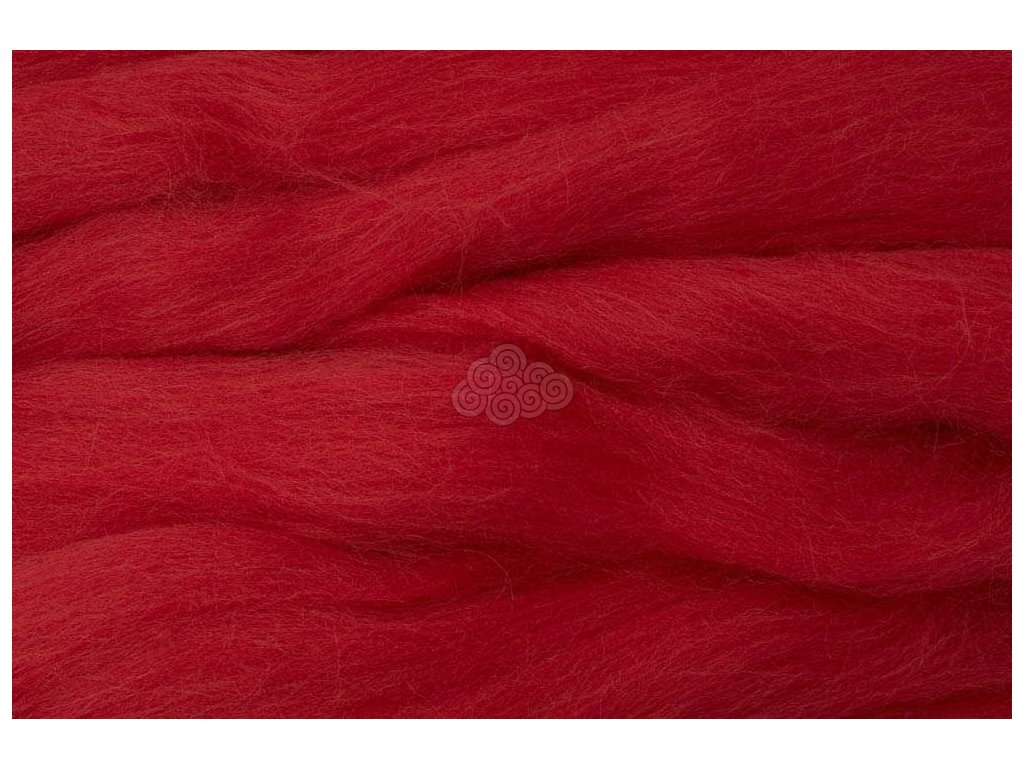 MERINO česanec ohnivě červená 18