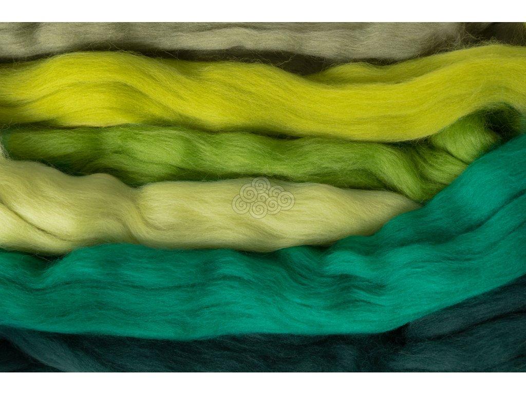 Sada na plstění LES, Mix 6 barev 100g